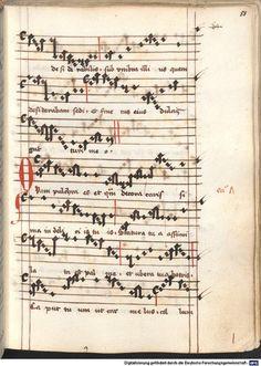Cantionale, Geistliche Lieder mit Melodien. Münchner Marienklage Tegernsee, 3. Drittel 15. Jh. Cgm 716  Folio 88