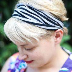 DIY T-Shirt Headband | HelloNatural.co