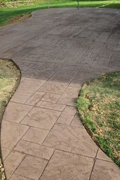 Did you know that they do stamped concrete for patios? Yes I do, and yes we have one. Its very cool