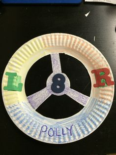 Make your own steering wheel out of a paper plate! As an added bonus, put the letter's L and R on the plate to get your young one familiar with left and right. Just cut out three sections on the paper plate, like the picture shown and you are good to go!