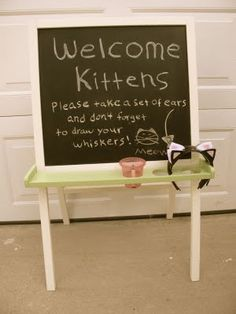 """A kitten party! I know I said """"No more parties!"""" but I might have to do this for her 2nd birthday."""