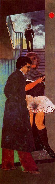 Ronald B. Kitaj,   Smirna Greek (Nikos)     Museo Thyssen-Bornemisza, Madrid     INV. Nr. 619 (1977.67)