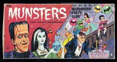 """Lot Detail - 1965 Hasbro """"The Munsters Masquerade Game"""" Munsters Theme, The Munsters, Black Sheep Of The Family, Lily Munster, Female Vampire, Horror Monsters, Famous Monsters, Masquerade Party, Creature Feature"""