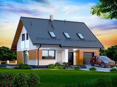 Projekt domu Marsala Mała (TFS-348) - 116.84m² Home Garden Design, Home And Garden, House Design, Steel Framing, House Outside Design, Micro House, Scandinavian Home, Design Case, House In The Woods