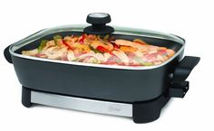 Oster CKSTSKFM05 16-Inch Electric Skillet, Black and Stainless Steel:Amazon:Kitchen & Dining
