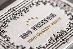 Letterpress business cards. Gold foil. by 100 ORIGINAL , via Behance