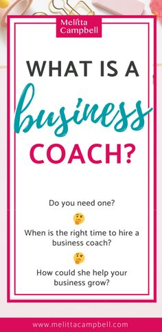 What is a Business Coach? When should I get a Business Coach? Here are the answers business owners and solopreneurs have been looking for. Online Entrepreneur, Business Entrepreneur, Business Marketing, Business Tips, Online Business, Entrepreneur Ideas, Business Coaching, Inspirational Posters, Career Coach