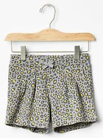 c2132db4de9a Leopard pleated shorts Pleated Shorts