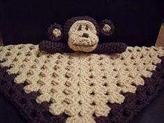 Ravelry: Monkey Baby Security Blanket Lovey Comforter Blankie Toy Easy Crochet Pattern pattern by Peach. Unicorn 1.99 GBP