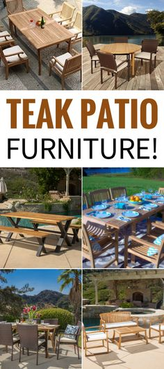 Best Teak Patio Furniture! Discover the top-rated teak furniture sets for your outdoor space. We love teak sofa sets, teak dining sets, teak benches, and more.