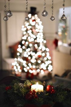 christmas nights home tour by candlelight christmas tree lights - Best Place To Buy Artificial Christmas Trees