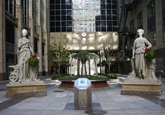 CBOT Plaza: Agriculture and Industry. Sculptor: Unknown Location: The Chicago Board of Trade plaza Description: Granite / 12 foot high /. Chicago Sculpture, Streamline Moderne, My Kind Of Town, Outdoor Sculpture, Dieselpunk, Agriculture, Fountain, Sculptures, Art Deco