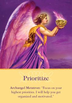 Oracle Card Prioritize | Doreen Virtue | official Angel Therapy Web site