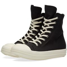 Rick Owens DRKSHDW High Top Sneaker (€540) ❤ liked on Polyvore featuring men's fashion, men's shoes and men's sneakers
