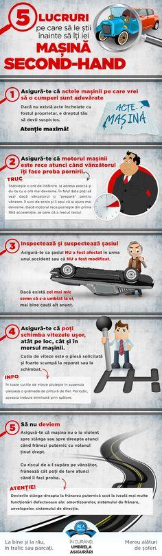 5 lucruri pe care sa le stii inainte sa iti iei masina second-hand - Infografice RCA-Ieftin.ro