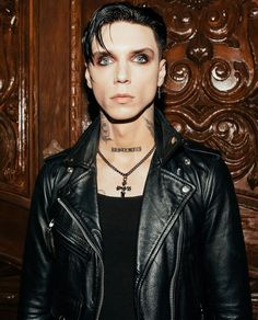 Emo Bands, Music Bands, Rock Bands, Leather Jeans, Leather Jacket, Andy Biersak, Black Viel Brides, Just Deal With It, Andy Black