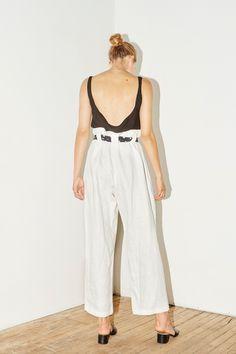 White Linen Aikido Pants