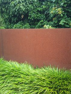 Corten and Japanese Forest grass
