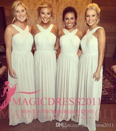 2016 Romantic Chiffon Bridesmaid Dresses A-Line Criss Cross Straps Pleated Beach Vintage Wedding Guest Gowns Party Maid Of Honor Dress New Bridesmaid Dresses Cheap Bridesmaid Dresses Long Maid of Honor Dress Online with 75.0/Piece on Magicdress2011's Store   DHgate.com