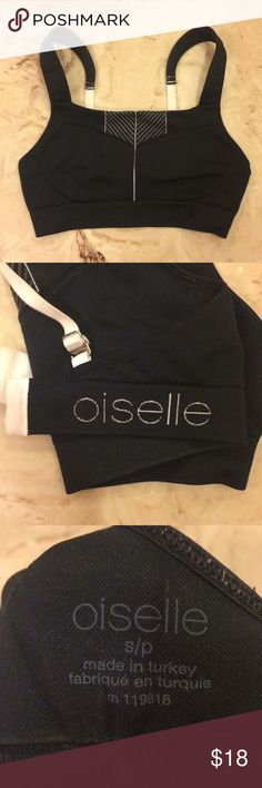 Oiselle navy Zen bra Great bra. Very comfortable and supportive. I usually wear small in Oiselle bras, but I should have gotten a medium in this one! Worn some, but never used for working out! oiselle Intimates & Sleepwear Bras
