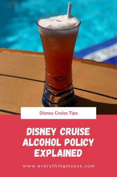 Disney Cruise Tips and Secrets. What is the Disney Cruise alcohol policy? Learn what alcohol you can take onboard and what is definitely not allowed. See how you can make the most of the Disney Cruise Line alcohol policy. #DisneyCruise #DisneyCruiseTips #CruiseTips #DisneyCruiseIdeas #DisneyCruisePlanning