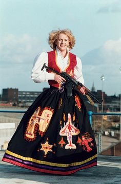 Grayson Perry, as Claire the mother of all battles