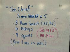 Workout The Chief #crossfit