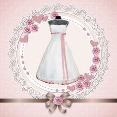 Brautkleider - Brautkleid,50er Jahre, knielang, Hochzeitskleid, - ein Designerstück von myrockabillymode bei DaWanda