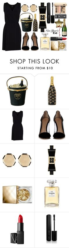"""Happy New Year's Eve"" by princess13inred ❤ liked on Polyvore featuring Marc Jacobs, Viereck, Gianvito Rossi, 14th & Union, Kate Spade, Burberry, Chanel and NARS Cosmetics"