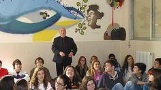 14 de febrero, día de San Valentín, tuvimos la gran fortuna de recibir al poeta Ángel Guinda, gran poeta y también gran persona.