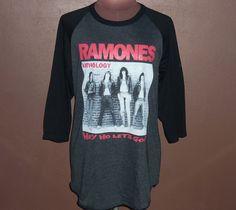 Image of Ramones Shirt Long Sleeve Ramones Shirt Raglan Punk Rock Shirt Women Shirts Tee Tshirt Lady Medium