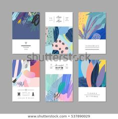 Collection of creative universal artistic cards. Collection of creative universal artistic cards. Trendy Graphic Design for ban Name Card Design, Banner Design, Layout Design, Print Design, Web Design, Design Cars, Design Trends, Design Ideas, Book Cover Design