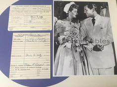 Lucille Ball Desi Arnaz Lucy Signature Bank Card Lot 2 1956 COA Wedding Photo
