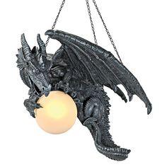 Design Toscano Nights Fury Sculptural Hanging Dragon Lamp & Reviews | Wayfair
