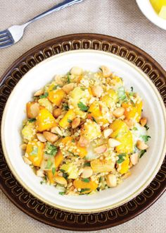 Check out this Quinoa Salad With Squash And Pineapples that's gluten-free and vegetarian, making it great for a dinner side dish or lunch! This is quick and easy to make, and you'll love the mix of salty and sweet flavors.