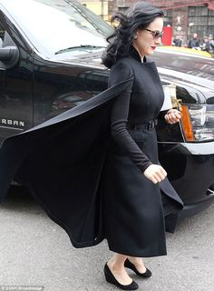 Wowzers: Her cape billowed in the wind as she walked...