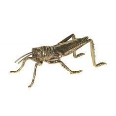 Grasshopper Ornament in Gold