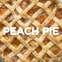 I acquired this delicious peach pie filling recipe some 40 years ago, when my husband and I first moved to southern Iowa and had peach trees growing in our backyard. It's been a family favorite since Köstliche Desserts, Delicious Desserts, Dessert Recipes, Yummy Food, Peach Pie Filling, Filling Recipe, Peach Cobbler Pie Crust, Peach Slab Pie, Easy Peach Pie