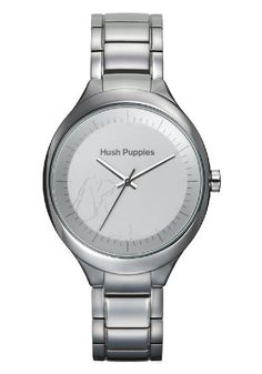 Hush Puppies Orbz Women's Automatic Watch with Silver Dial Analogue Display and Silver Stainless Steel Bangle HP.3784L.1501: Amazon.co.uk: W...