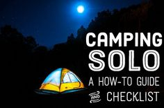 """Wondering """"Should I go camping alone?"""" or """"Is it safe to camp alone?"""" Camping alone can be both safe and enjoyable—here's how to do it right."""