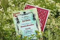Alice in Wonderland inspired Tea Party Invitations