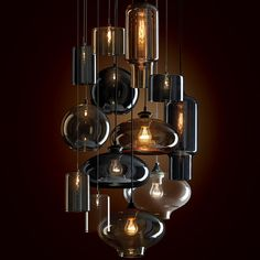 Top 5 Interior Design Trends for modern home décor in 2015 interiors lighting idea. The cluster of lights turn what is a fairly ordinary looking light into something striking… I call it Variations on a theme!