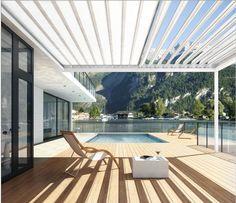 Mit der Fledmex Terrassenüberdachung können Sie gemütlich am Pool sitzen und entspannen :)