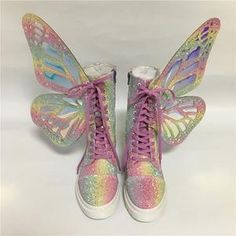 Sock Shoes, Cute Shoes, Me Too Shoes, Shoe Boots, Ankle Boots, Butterfly Shoes, Rainbow Butterfly, Dream Shoes, Crazy Shoes