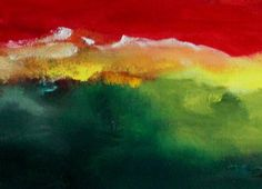 Nuvens coloridas - acrílica