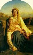 "New artwork for sale! - "" Virgin And Child by Delaroche Paul "" - http://ift.tt/2ikW6VR"