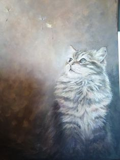 Countryside, Cats, Artist, Painting, Animals, Gatos, Animales, Animaux, Artists