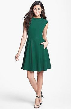 Nothing complicated here — just a great fit and a great color on this Vince Camuto fit-and-flare dress ($199).