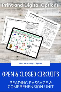 Electrical circuits are a student favorite. They love knowing how electricity makes devices work. Use this set of activities for you next lesson plan. Includes reading passage, sorting activity and a quiz for assessment. Perfect for kids in 4th grade and 5th grade science. 5th Grade Science, Elementary Science, Elementary Teacher, Thermal Energy, Electrical Energy, Sorting Activities, Comprehension Questions, Reading Passages, Circuits