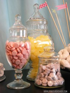 candy jars for our candy table